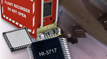 The HI-3717 from Holt Integrated Circuits is a CMOS device designed for interfacing an ARINC 717 compatible bus to a Serial Peripheral Interface (SPI) enabled micro-controller. The part includes selectable Harvard Bi-Phase (HBP) and Bi-Polar Return-to-Zero (BPRZ) channels with encoders/decoders and dedicated line drivers and line receivers for direct connection to the ARINC 717 bus. The part operates from a single +3.3V supply using only four external capacitors. Each transmit and receive channel has a 32-word by 12-bit FIFO for data buffering. The HI-3717 is available in very small 44-pin 7mm x 7mm Chip-scale (QFN) and 44-pin Quad Flat Pack (PQFP) plastic packages.